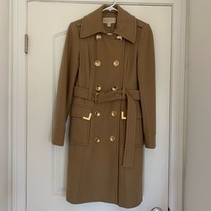 MICHAEL KORS - belted Wool trench coat